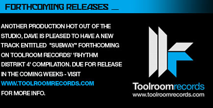 Forthcoming releases at www.toolroomrecords.com